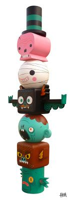 "Gary Ham. Art Toy design. ""Toytem of terror""."