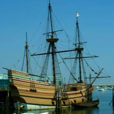 Plymouth Rock. The Mayflower.