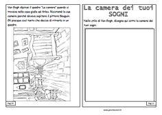 giochi e colori schede didattiche del maestro fabio van On girasoli di van gogh da colorare
