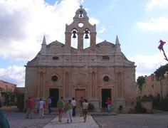 #Arkadi monastery, #Rethymno, #Crete, #pass2greece Rethymno Crete, Greek Mythology, San Francisco Ferry, Building, Travel, Viajes, Buildings, Trips, Construction
