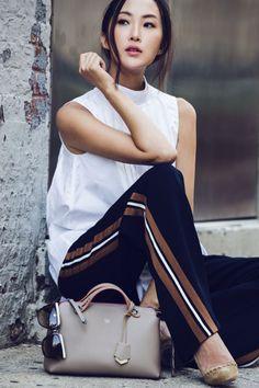 How to wear tuxedo stripe pants - Fashionemergency