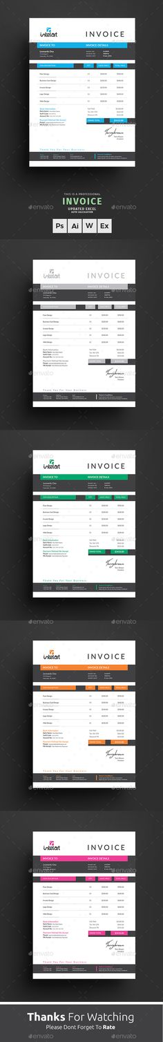 Invoice  Proposal Templates Font Logo And Fonts