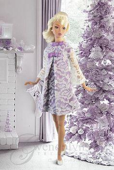 New fashion from Gwendolyns Treasures for Poppy, Francie, Barbie Basics, Dynamites and similar sized dolls. Fashion includes a mod Dupioni