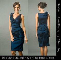 V-Neck Halter Navy Blue Satin Simply Short Formal Dress on AliExpress.com. $65.00