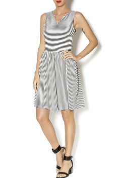 Stripe fit and flare
