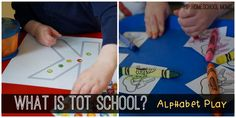 How can I do Tot School at home? Easy tips and ideas for having a fun and engaging learning time with your tot and preschooler!