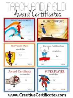 Sports certificates running award certificate template track and field award certificates yelopaper Gallery