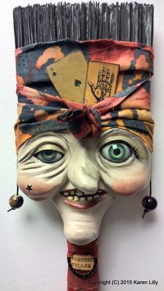 """The art of """"Papier-mâché"""" or paper mache goes back to 1725 Europe when the crafty Paper Mache Clay, Paper Mache Sculpture, Paper Mache Crafts, Sculpture Ideas, Ceramic Sculptures, Paint Brush Art, Paint Brushes, Painting Art, Junk Art"""
