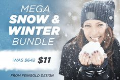 Mega Snow & Winter Bundle from Feingold Design - only $11!