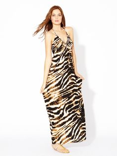 T-Bags Maxi Dress Fringe
