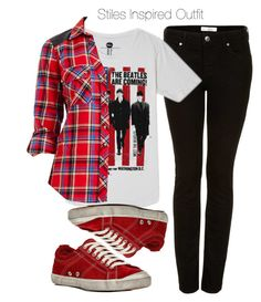 """Stiles Inspired Outfit"" by veterization ❤ liked on Polyvore featuring Topshop, Forever 21, 2b bebe and n.d.c."