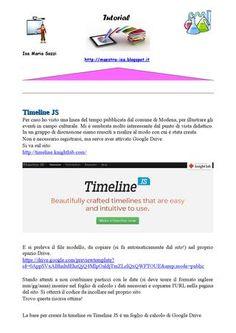 Creare timeline con google drive