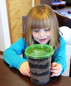 DIY Earth Worm Habitat - A great Science Experiment for the kids!