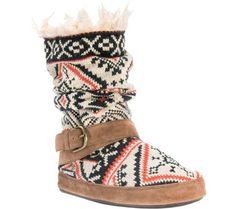 8a251201dbea Women s Muk Luks Lisen Fair Isle Slipper Boots - Light Tan M