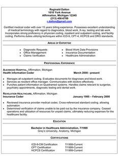 hcmedical coder resumewith border medical codermedical billingsample