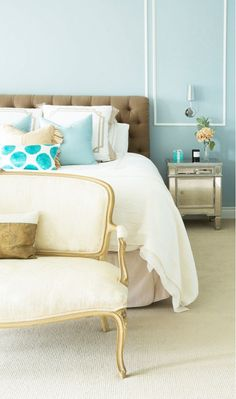 Tiffany blue bedroom