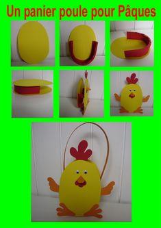 Un panier poule pour Pâques