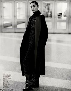 Lina Zhang and Tian Yi in 'Modern Move'  Photographed by Josh Olins  Scanned by zinio - Vogue China October 2012
