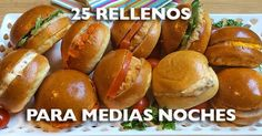 recetas medias noches Hot Dog Buns, Hot Dogs, Tapas, Hotdog Sandwich, Canapes, Christmas Morning, Food Videos, Baked Potato, Catering