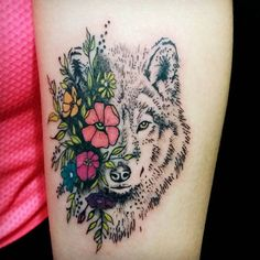 Image result for three quarter view wolf tattoo
