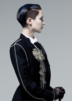 Sassoon Academy channels the dandy: a fashionable man pursuing sartorial perfection who emerged at the end of the 18th century.   More:  http://www.modernsalon.com/hair-photos/hair-collections/The-Dandies-230063881.html