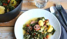 23 heerlijke eenpansgerechten voor op de camping I Love Food, Wine Recipes, Pasta Salad, Sprouts, Risotto, Potato Salad, Potatoes, Vegetables, Cooking