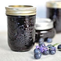 Homemade blueberry lavender jam made with fresh local ingredients!