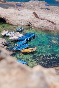 barchini locali dell'Isola di Ponza