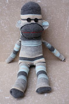 Sock monkeys are really made of socks?!