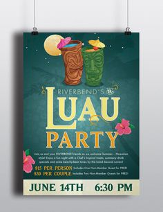 Riverbend Luau Party Poster by AlphaGraphics Sugar Land