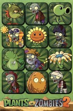 Zombies 2 Poster Print x Black Zombie Birthday Parties, Zombie Party, Plantas Versus Zombies, P Vs Z, Plant Zombie, Video Game Posters, Poster Prints, Art Prints, Poster Poster