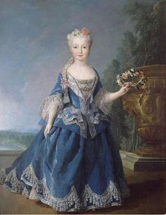Mariana Victoria of Spain, fiancée of Louis XV, later Queen of Portugal - Alexis Simon Belle ca.1726