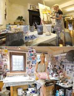 Chloe Holt working in her studio http://deniseyapp.com/blog/chloe-holt-interview-part-I/