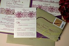 Plum & gold, Indian  w/ envelope - Really like it!