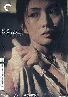 "Criterion Cover for Toshiya Fujita ""Lady Snowblood"" starring Meiko Kaji    (Source: midmarauder)"