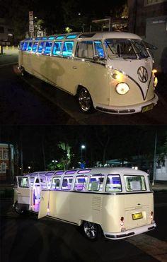 VW limo bus-- HOLLA