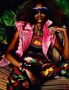 imaan hammam by mario testino for vogue paris may 2016 | visual optimism; fashion editorials, shows, campaigns & more!