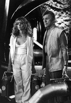 Kirk Douglas And Farrah Fawcett Saturn 3 Science Fiction, Fiction Movies, 80s Movies, Farrah Fawcett, Corpus Christi, Santa Monica, Tv Icon, Kate Jackson, Cheryl Ladd