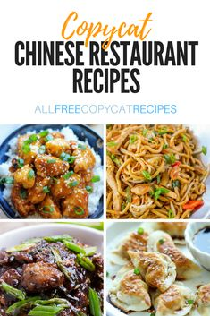 These 35 Copycat Chinese Restaurant Recipes are some of the most classic carry out dishes. Leave that take-out behind, now you can make these copycat restaurant meals in your kitchen and on your own t Homemade Chinese Food, Easy Chinese Recipes, Chinese Rice Recipe, Best Chinese Food Dishes, Chinese Food Recipes Chicken, Asian Food Recipes, Chinese Food Buffet, Instant Pot Chinese Recipes, Chinese Meals
