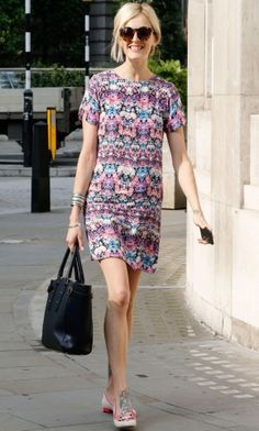 Fearne Cottom sporting Aspinal of London's iconic Marylebone Tote
