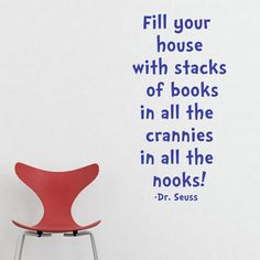 Dr Seuss Stacks of Books quote vinyl decal by saltyseatreasures, $12.00
