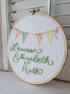 Nursery Decor Made To Order Hand Embroidery One Of door EmbroiderWee, $30.00