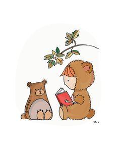 Supporter les histoires de temps. Art pour enfants. Décor de pépinière. Imprimer. Personnalisé