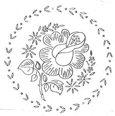 rose garland (hand embroidery pattern/transfer)
