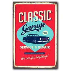 Classic garage - blechschild - dekoration from cuadros lifestyle