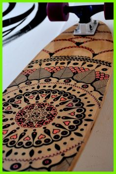 """Unique made to order """"Mannequin Mandala"""" 7 ply Canadian maple cruiser deck.   Deck features clear grip tape for a nice wooden top finish however I am happy to take design requests and can provide a variety of styles, types of art work and grip tapes.  Any questions or specific design you had ..."""