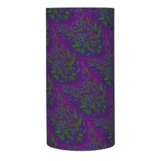 Decorative Flameless Candle Purple Green Bold Splatter Design #zazzle #cadles #decor #gifts