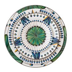 """Bahia"" @pintoparis a celebration of native Brazilian headdress. Exquisitely hand painted on Limoges porcelain in wonderfully vibrant colours. #bahia #pintoparis #albertopintoagency #luxurytableware #luxury #interior #interiordesign #yachtclub #superyacht #design #artdelatable #brazil #paris #handpainted #dinnerware #potd by theksgroup"
