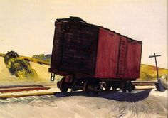 "Edward Hopper (1882-1967) | ""Freight Car at Truro"" | 1931"