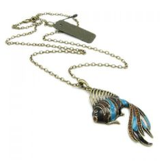 Retro Style Fish Shape Pendant Embellished Women's Sweater Chain Necklace, AS THE PICTURE in Necklaces | DressLily.com